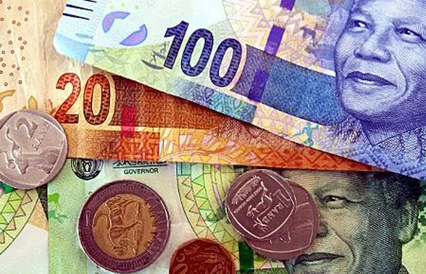 Rand falls on weaker outlook, strong dollar